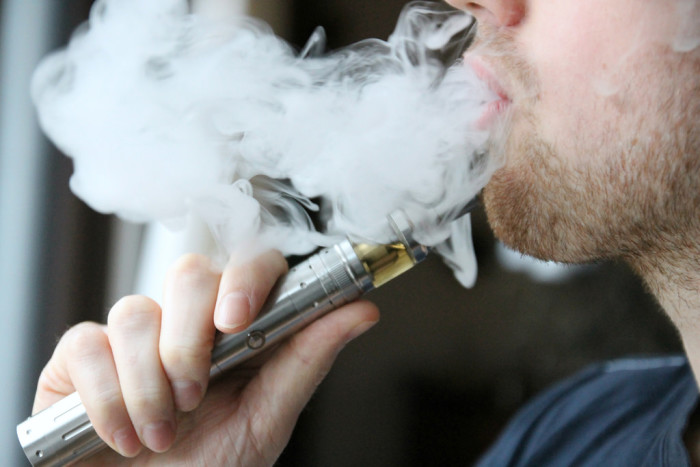 E Cigarettes Smoking Guy