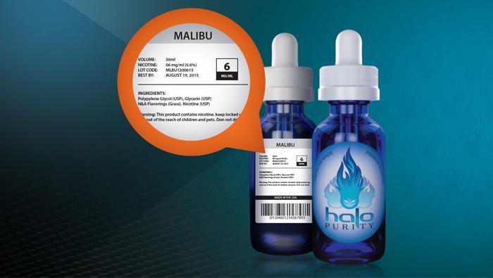 HaloCigs  E-Liquid & E-Cigarettes Bottle
