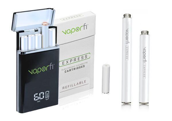 vaporfi express e-cigarette battery case cartridges