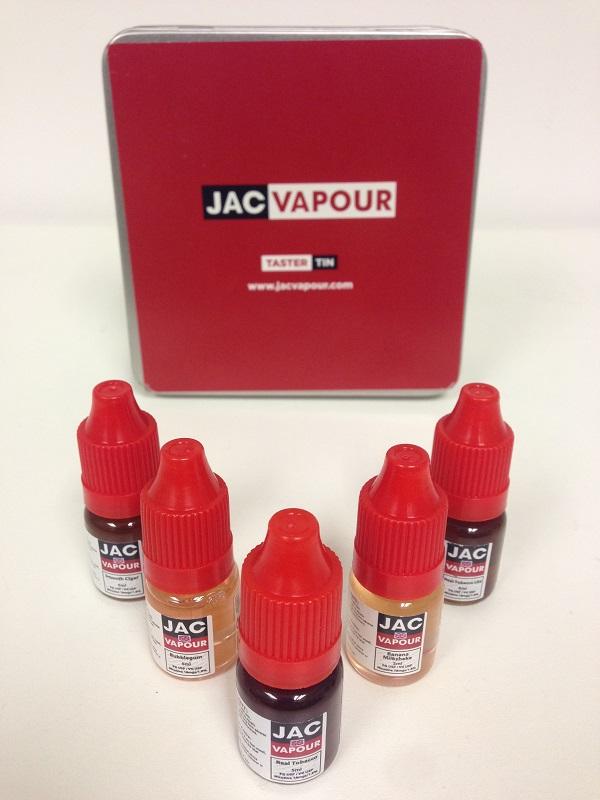 JAC Vapour E-Juice Taster Tin 4