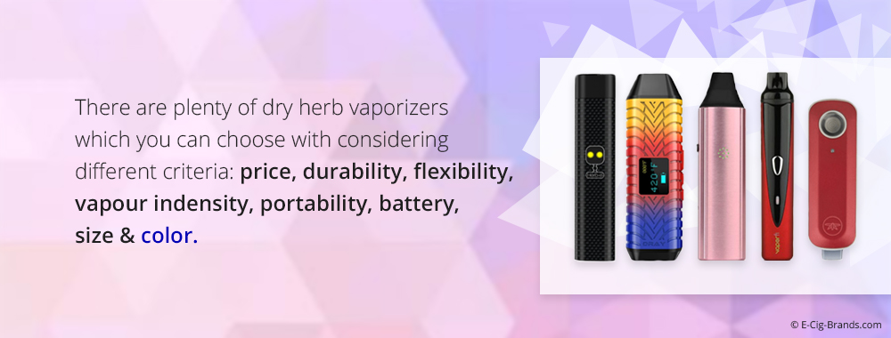 quality dry herb vaporizers