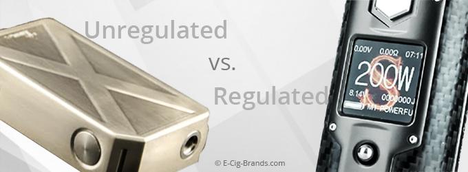 Regulated vs Unregulated Mods | E Cig Brands